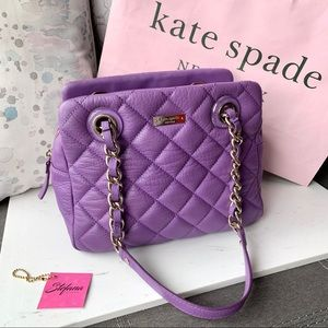 Kate Spade Purple Quilted Leather Chain Satchel